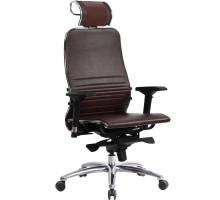 Кресло Samurai K-3.03 кожа, темно-бордовый