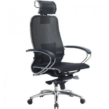 Кресло Samurai S-2.03 сетка, черный ПЛЮС - оптово-розничная продажа