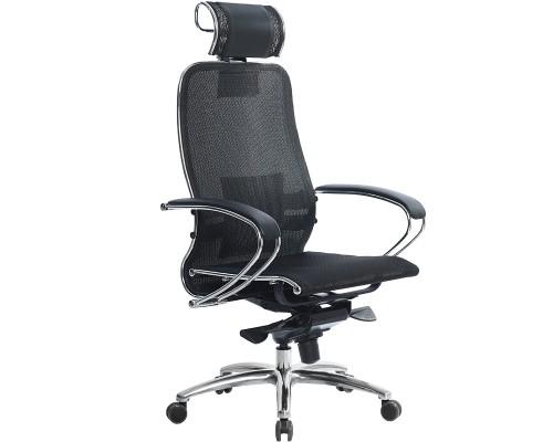 Кресло Samurai S-2.03 сетка, черный ПЛЮС