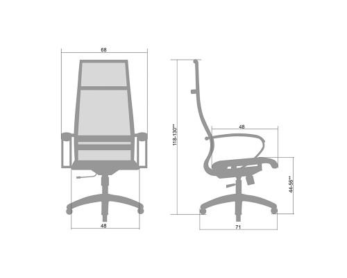 Кресло Samurai Ultra SK-1-BK 7 PL оранжевый, сетка