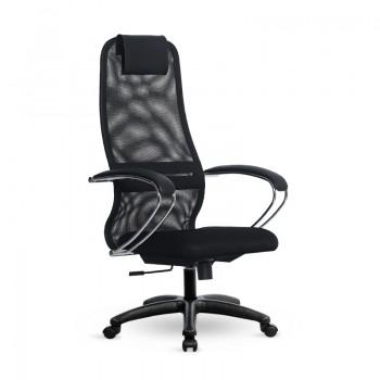 Кресло Samurai Slim S-BK 8 черный, сетка/ткань, крестовина пластик Pl - оптово-розничная продажа