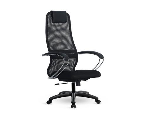 Кресло Samurai Slim S-BK 8 черный, сетка/ткань, крестовина пластик Pl