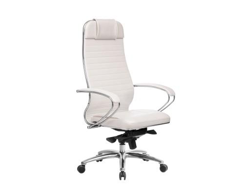 Кресло Samurai KL-1.04 кожа, белый лебедь