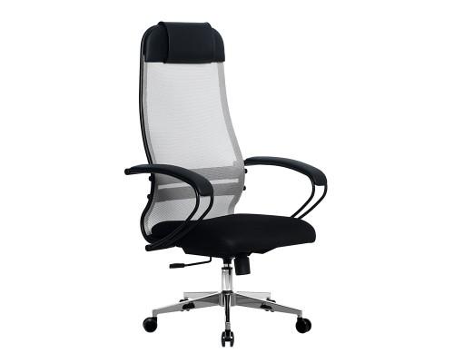 Кресло Samurai Ultra SU-1-BP 11 светло-серый, сетка/ткань, крестовина хром Ch-2