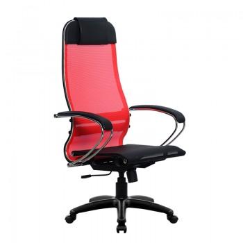 Кресло Samurai Ultra SU-1-BK 4 PL красный, сетка - оптово-розничная продажа