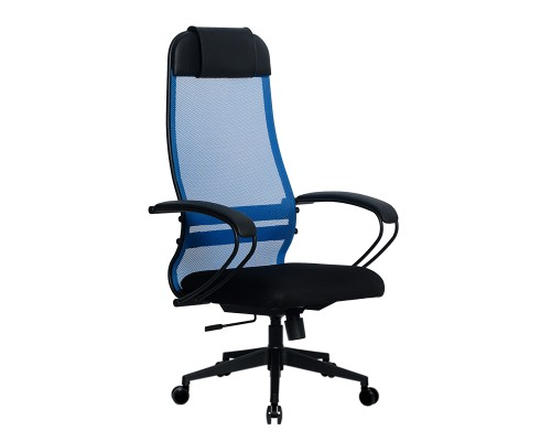 Кресло Samurai Ultra SU-1-BP 11 синий, сетка/ткань, крестовина пластик Pl-2