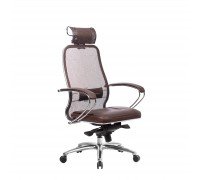 Кресло Samurai SL-2.04 сетка/кожа, темно-коричневый
