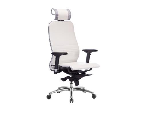 Кресло Samurai K-3.04 кожа, белый лебедь