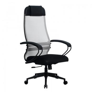 Кресло Samurai Ultra SU-1-BP 11 светло-серый, сетка/ткань, крестовина пластик Pl-2 - оптово-розничная продажа