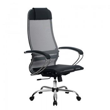 Кресло Samurai Ultra SU-1-BK 4 CH серый, сетка - оптово-розничная продажа