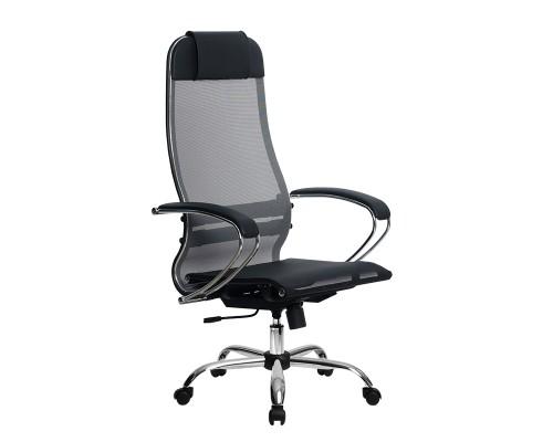 Кресло Samurai Ultra SU-1-BK 4 CH серый, сетка