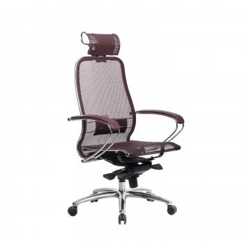 Кресло Samurai S-2.04 сетка, темно-бордовый - оптово-розничная продажа