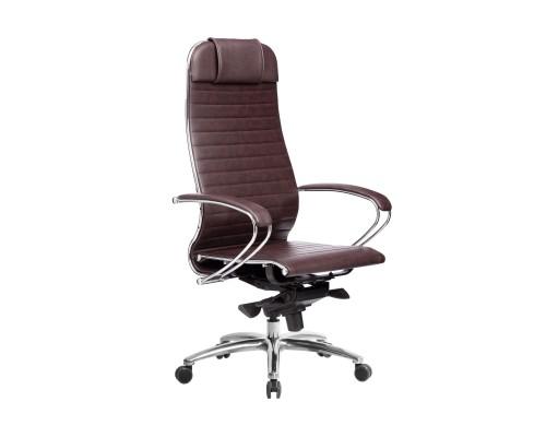 Кресло Samurai K-1.04 кожа, темно-бордовый