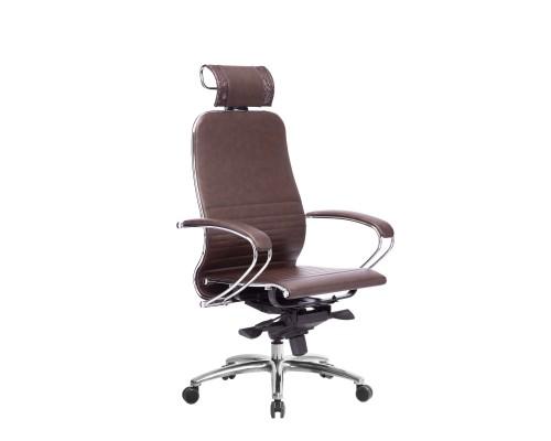 Кресло Samurai K-2.04 кожа, темно-бордовый