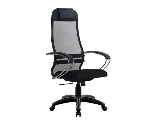 Кресло Samurai Ultra SU-1-BK 18 черный, сетка/ткань, крестовина пластик Pl