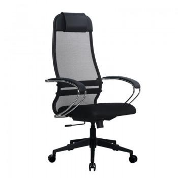 Кресло Samurai Ultra SU-1-BK 18 темно-серый, сетка/ткань, крестовина пластик Pl-2 - оптово-розничная продажа