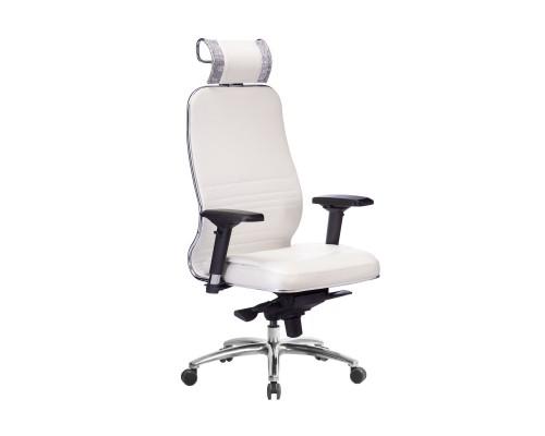 Кресло Samurai KL-3.04 кожа, белый лебедь