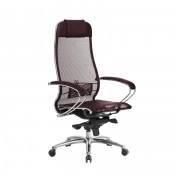 Кресло Samurai S-1.04 сетка, темно-бордовый - оптово-розничная продажа