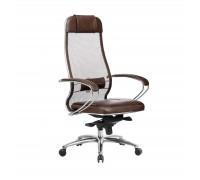 Кресло Samurai SL-1.04 сетка/кожа, темно-коричневый
