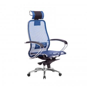 Кресло Samurai S-2.04 сетка, синий - оптово-розничная продажа