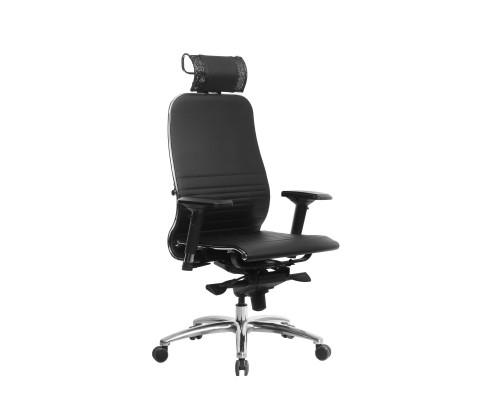 Кресло Samurai K-3.04 кожа, черный