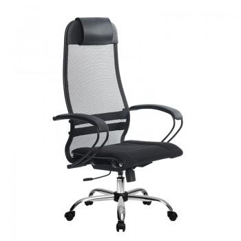 Кресло Samurai Ultra SU-1-BP 0 черный, сетка/ткань, крестовина хром Ch  - оптово-розничная продажа