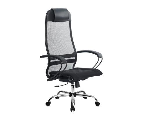 Кресло Samurai Ultra SU-1-BP 0 черный, сетка/ткань, крестовина хром Ch