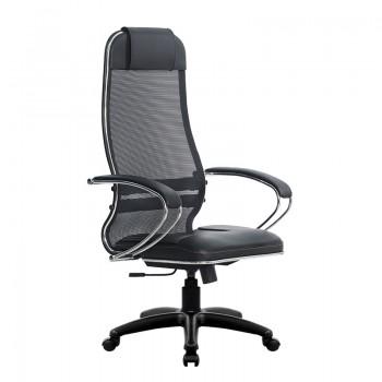 Кресло Samurai Ultra SU-1-BK 5 PL черный, кожа NewLeather/сетка - оптово-розничная продажа