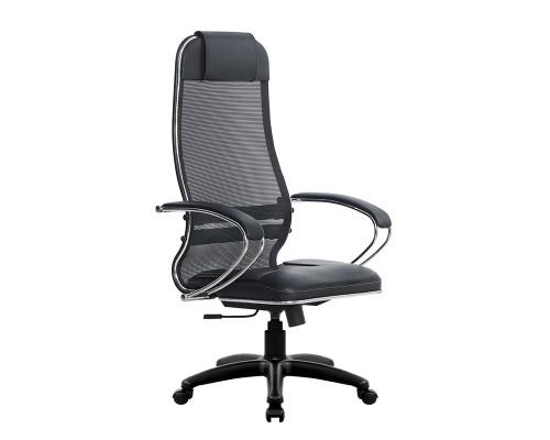 Кресло Samurai Ultra SU-1-BK 5 PL черный, кожа NewLeather/сетка