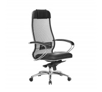Кресло Samurai SL-1.04 сетка/кожа, черный