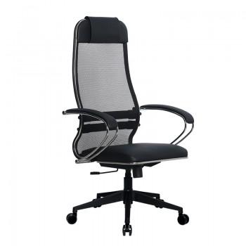 Кресло Samurai Ultra SU-1-BK 16 PL-2 черный, кожа NewLeather/сетка - оптово-розничная продажа