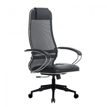 Кресло Samurai Ultra SU-1-BK 5 PL-2 черный, кожа NewLeather/сетка - оптово-розничная продажа