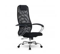 Кресло Samurai Slim S-BK 8 черный, сетка/ткань, крестовина хром Ch