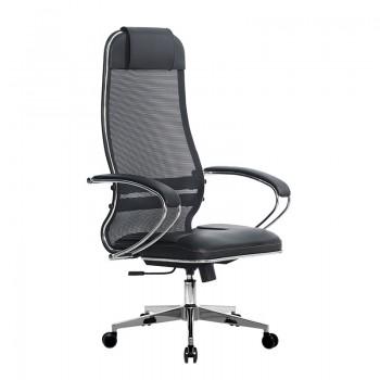 Кресло Samurai Ultra SU-1-BK 5 CH-2 черный, кожа NewLeather/сетка - оптово-розничная продажа