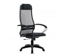 Кресло Samurai Ultra SU-1-BK 16 PL черный, кожа NewLeather/сетка