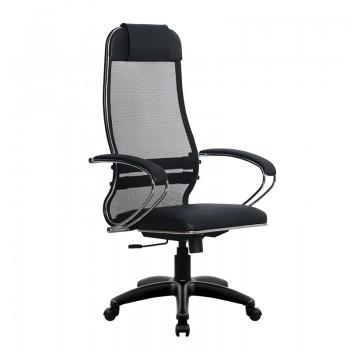 Кресло Samurai Ultra SU-1-BK 16 PL черный, кожа NewLeather/сетка - оптово-розничная продажа