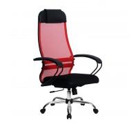 Кресло Samurai Ultra SU-1-BP 11 красный, сетка/ткань, крестовина хром Ch