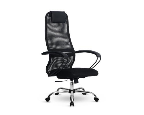 Кресло Samurai Slim S-BP 8 черный, сетка/ткань, крестовина хром Ch
