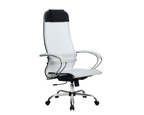Кресло Samurai Ultra SU-1-BK 4 CH белый, сетка