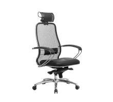 Кресло Samurai SL-2.04 сетка/кожа, черный