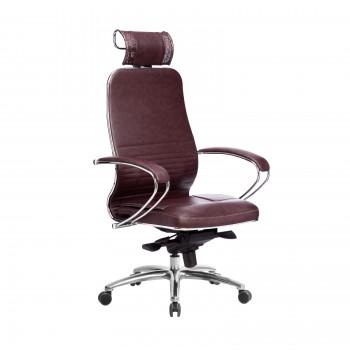 Кресло Samurai KL-2.04 кожа, темно-бордовый - оптово-розничная продажа