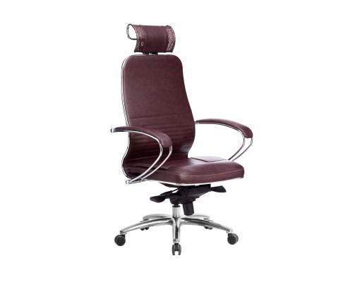 Кресло Samurai KL-2.04 кожа, темно-бордовый