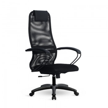 Кресло Samurai Slim S-BP 8 черный, сетка/ткань, крестовина пластик Pl - оптово-розничная продажа