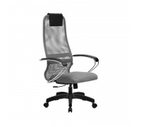 Кресло Samurai Slim S-BK 8 светло-серый, сетка/ткань, крестовина пластик Pl