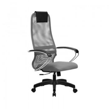 Кресло Samurai Slim S-BK 8 светло-серый, сетка/ткань, крестовина пластик Pl  - оптово-розничная продажа