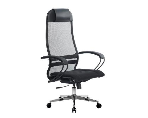 Кресло Samurai Ultra SU-1-BP 0 черный, сетка/ткань, крестовина хром Ch-2