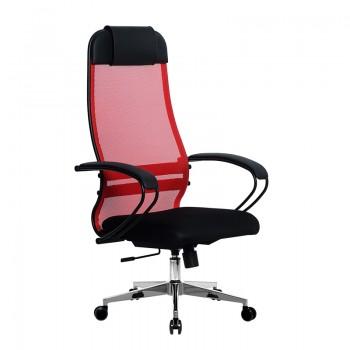 Кресло Samurai Ultra SU-1-BP 11 красный, сетка/ткань, крестовина хром Ch-2 - оптово-розничная продажа