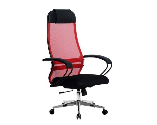 Кресло Samurai Ultra SU-1-BP 11 красный, сетка/ткань, крестовина хром Ch-2