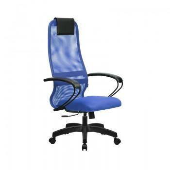 Кресло Samurai Slim S-BP 8 синий, сетка/ткань, крестовина пластик Pl  - оптово-розничная продажа