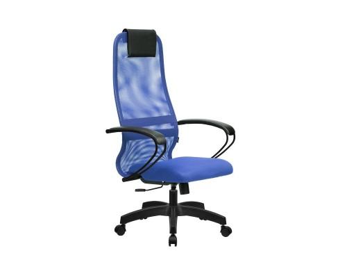 Кресло Samurai Slim S-BP 8 синий, сетка/ткань, крестовина пластик Pl
